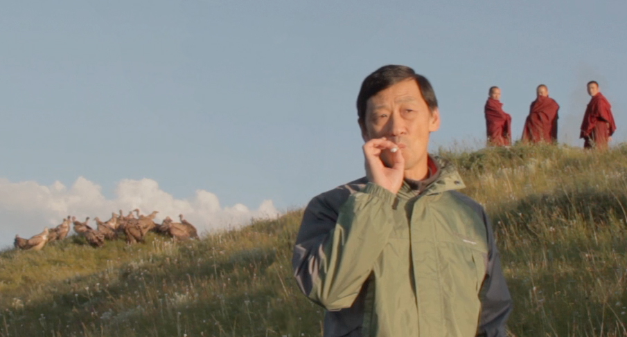 still from VULTURES OF TIBET